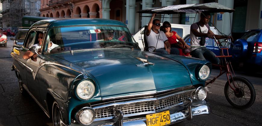 Такси классическое на Кубе